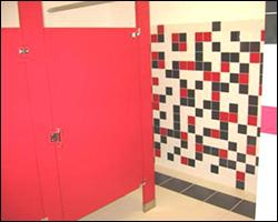 Commercial bathroom tile