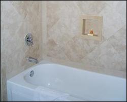 New bathroom tile enclosure