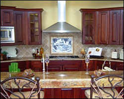 New kitchen tile and granite